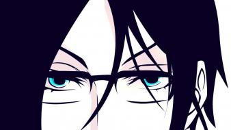 Black glasses anime wallpaper