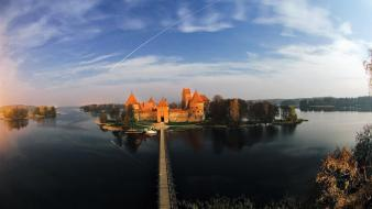 Bridges lithuania trakai fort baltic states unseen wallpaper
