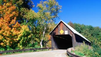 Bridges woodstock west vermont lincoln covered bridge wallpaper