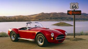 Cars route 66 ac cobra wallpaper