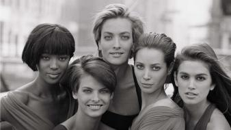 Cindy crawford christy turlington linda evangelista ny wallpaper