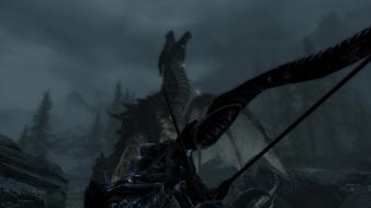 Dragons the elder scrolls v: skyrim wallpaper