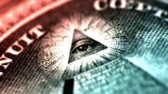 Eyes money illuminati macro freemasonary anti-christ wallpaper