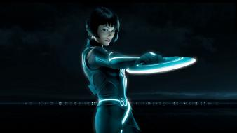 Film tron pixels legacy faces black hair wallpaper