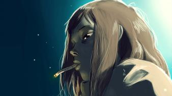 Flcl fooly cooly artwork cigarettes anime girls wallpaper