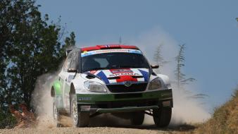 Gravel car skoda fabia s2000 intercontinental challenge wallpaper