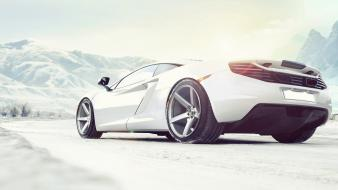 Ice snow white mclaren mp4-12c Wallpaper
