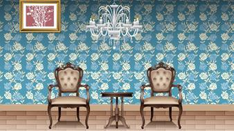 Interior chairs two wallpaper