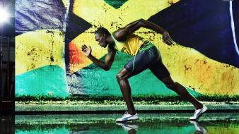 Jamaica running athletes usain bolt olympics 2012 wallpaper