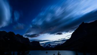 Landscapes nature night usa lakes skyscapes montana wallpaper