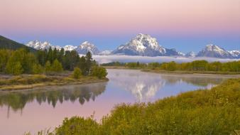 Landscapes wyoming grand teton national park lakes mount wallpaper