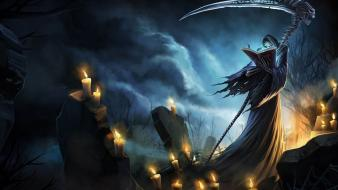 League of legends karthus nighttime cemetery candles Wallpaper