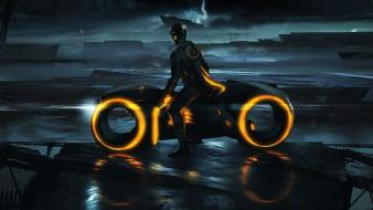 Light disney company movies futuristic tron legacy artwork wallpaper