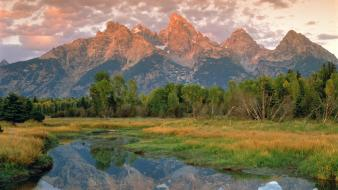 Mountains landscapes nature wyoming grand teton national park wallpaper