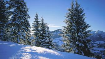 Nature winter germany bavaria wallpaper
