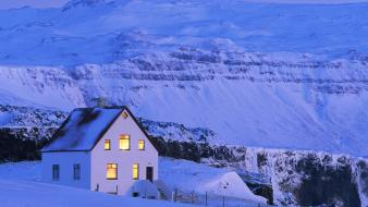 Nature winter home iceland wallpaper