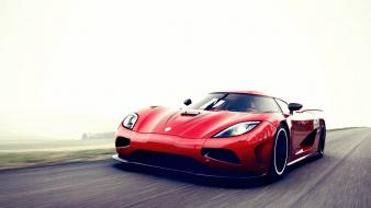 Red roads koenigsegg agera r foggy Wallpaper