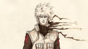 Sketches naruto: shippuden sharingan drawings kakashi hatake swords wallpaper
