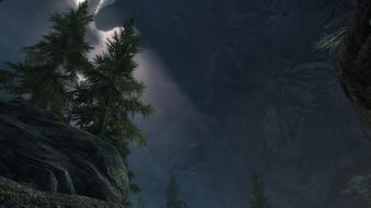 Trees the elder scrolls v: skyrim wallpaper