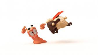 Video games soldier sheep worms revolution wallpaper