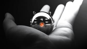 White hands monochrome doctor who daleks pokeball wallpaper