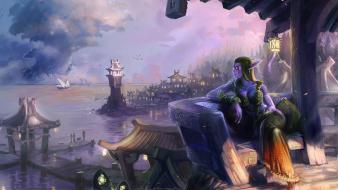 World of warcraft artwork afternoon night elf darkshore Wallpaper