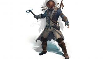 3 simple background white archer connor kenway Wallpaper
