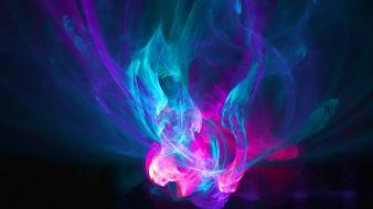 Abstract blue dark pink fluid wallpaper