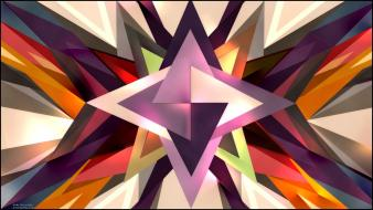 Abstract multicolor spikes photomanipulation colors sp34k triangles wallpaper