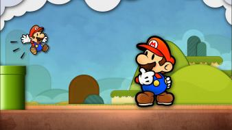 Abstract video games mario paper wallpaper