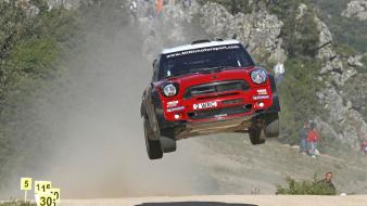 Airborne red cars wrc mini countryman motorsport wallpaper