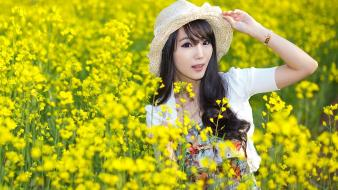 Asians korean im soo yeon black hair wallpaper