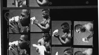 Black and white boxing mike tyson knockout wallpaper