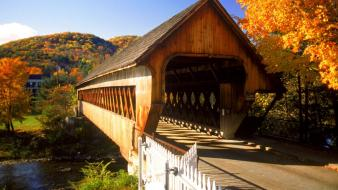 Bridges woodstock vermont covered bridge Wallpaper