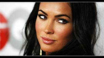 Brunettes eyes megan fox actress lips faces Wallpaper