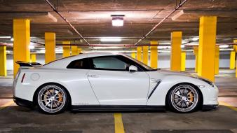 Cars nissan parking house side view gt-r gtr wallpaper