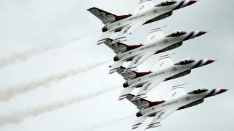 Fighting falcon aviation thunderbirds (squadron) formation flying Wallpaper