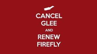 Firefly glee keep calm and red background wallpaper
