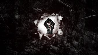 Fist black background rebellion viva la revolucion wallpaper