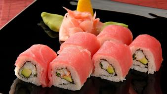 Food sushi maki roll rolls wallpaper