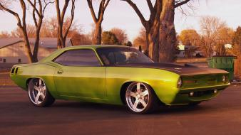 Front usa plymouth barracuda classic widescreen cuda Wallpaper