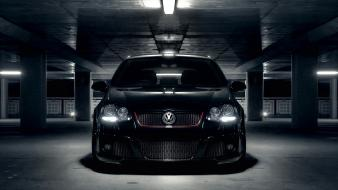 Garages front view volkswagen golf v Wallpaper