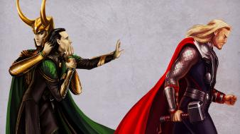 Loki fan art the avengers (movie) brothers wallpaper