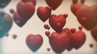 Love red hearts wallpaper