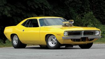 Muscle cars usa plymouth barracuda classic widescreen cuda Wallpaper