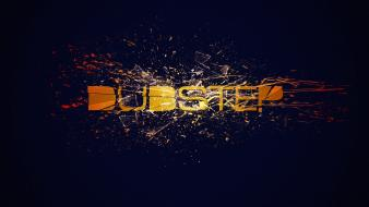 Music glass orange crash dubstep splatter wallpaper