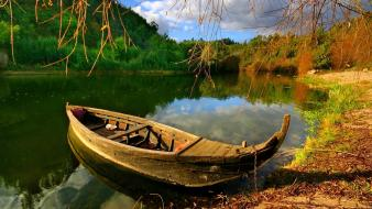 Nature autumn (season) seasons boats scenic lakes wallpaper