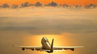 Nature boeing 747 wallpaper