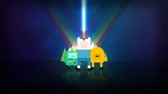 Network adventure time pixelated finn and jake Wallpaper