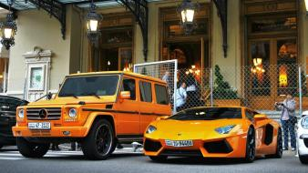 Orange lamborghini jeep lambo tuning museum mercedes-benz Wallpaper